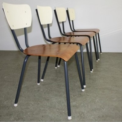 Set of 4 dinner chairs from the fifties by unknown designer for Everest