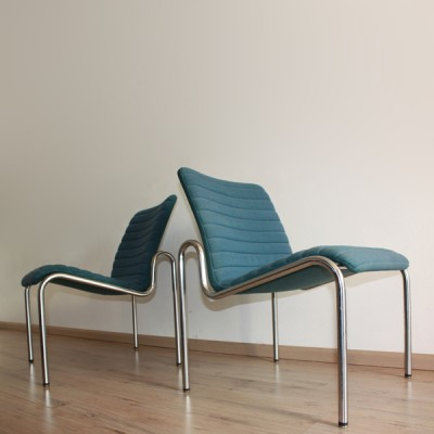 Set of 2 model 704 lounge chairs from the sixties by Kho Liang Ie for Stabin Woerden