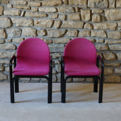 Set of 2 dinner chairs from the seventies by Gae Aulenti for Knoll