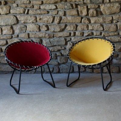 3 lounge chairs from the sixties by unknown designer for unknown producer
