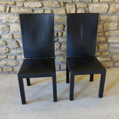 Pair of Arcadia dining chairs by Paolo Piva for B & B Italia, 1980s