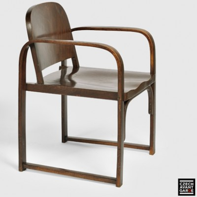 2 model A 745 F lounge chairs from the twenties by unknown designer for Thonet