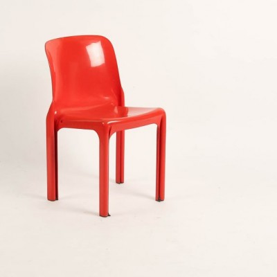 Selene dinner chair from the seventies by Vico Magistretti for Artimeta