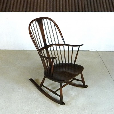 912 Windsor Chair Rocking Chair by Lucian Randolph Ercolani for Ercol