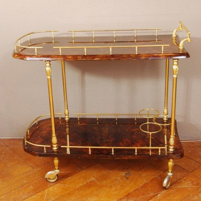 Serving trolley by Aldo Tura for Tura, 1940s