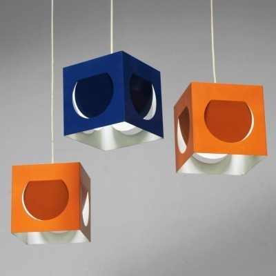 7 x Model: 61-193 hanging lamp by Shogo Suzuki for Stockmann Orno