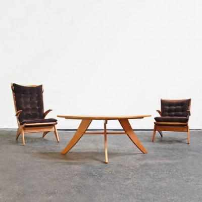 Seating group from the forties by Jos den Drijver for Woninginrichting De Stijl