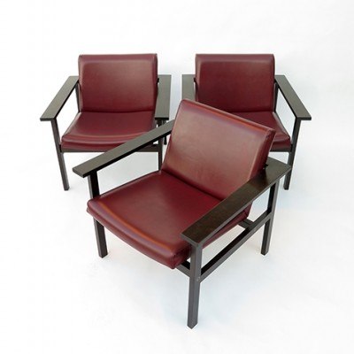 3 lounge chairs from the sixties by unknown designer for EDM