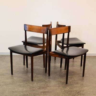 Set of 4 dining chairs by Henry Rosengreen Hansen for Brande Møbelindustri, 1950s