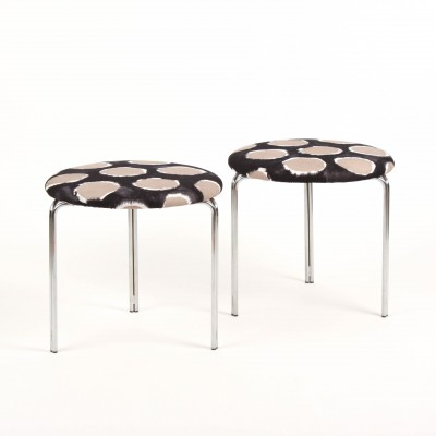 Pastoe stools with fabrick designed by Jean Paul Gaultier