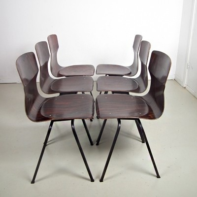 4 x Eromes dining chair, 1960s
