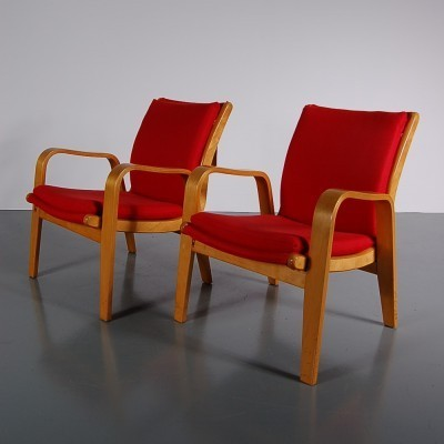 Pair of lounge chairs by Cees Braakman for Pastoe, 1950s
