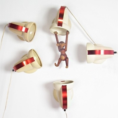 2 Infraphil wall lamps from the fifties by Charlotte Perriand for Philips