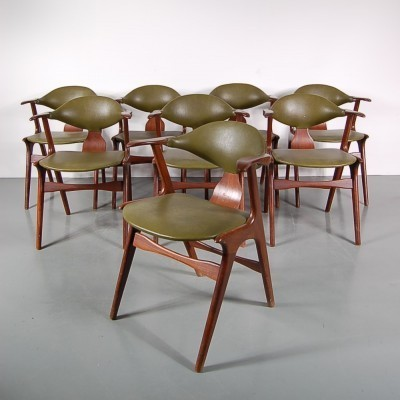 Set of 8 AWA dining chairs, 1950s