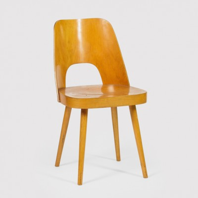 Dinner chair from the fifties by Oswald Haerdtl for Ton S. P. Bystřice pod Hostýnem