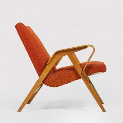 2 lounge chairs from the fifties by unknown designer for Tatra Nabytok NP