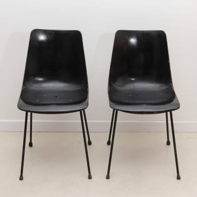 CM 131 dining chair by Pierre Paulin for Thonet, 1950s