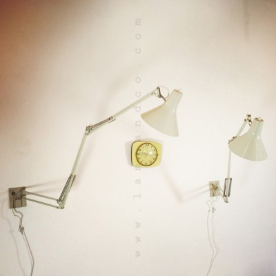 Set of 2 wall lamps from the fifties by Jacob Jacobsen for Luxo