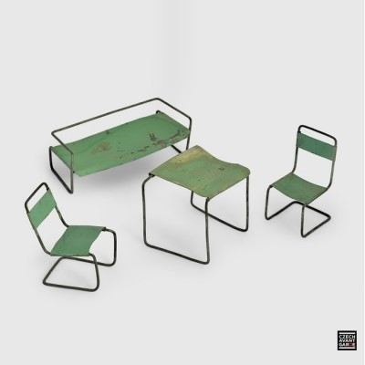 Functionalist Dolls House Furniture from the thirties by Marcel Breuer for unknown producer