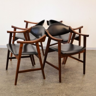 Set of 4 Stokke dining chairs, 1950s