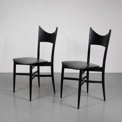 Pair of Piazza dining chairs, 1950s