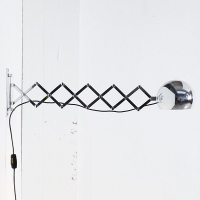 Scherenlampe wall lamp from the sixties by Ingo Maurer & Dorothee Maurer Becker for Design M