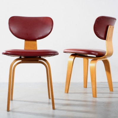 Set of 2 SB 02 dinner chairs from the sixties by Cees Braakman for Pastoe