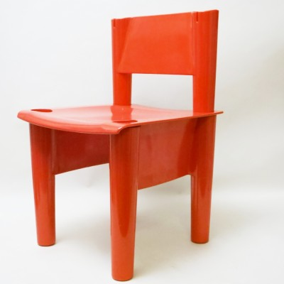 Chica Red Children's chair by Jonathan De Pas & Donato D Urbino for Bonacina, 1970s