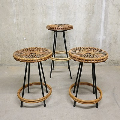 Stool from the fifties by unknown designer for Rohé Noordwolde
