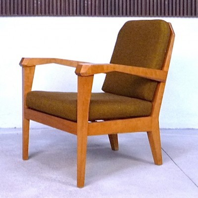 Anthroposophical lounge chair from the twenties by Felix Kayser for Schiller Stuttgart