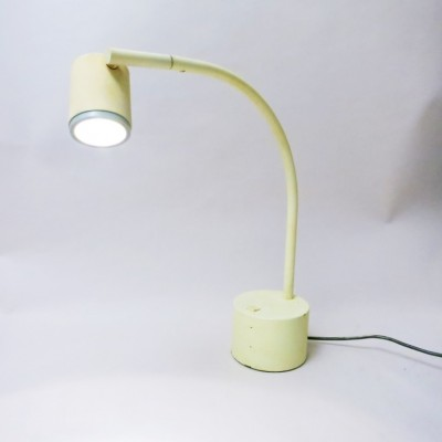 Halo Click Yellow desk lamp by Ettore Sottsass for Philips, 1980s