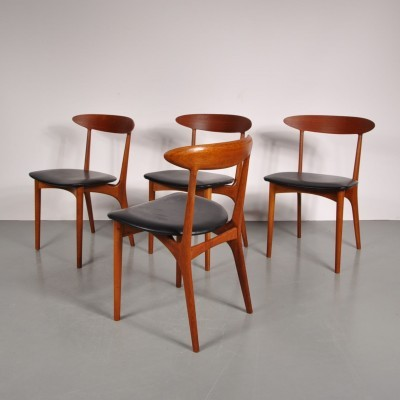 Set of 4 dining chairs by Kurt Ostervig for Brande Møbelindustri, 1950s