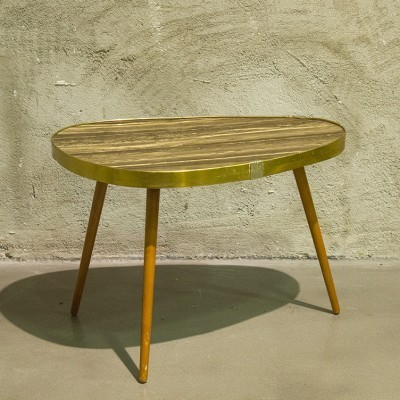 4 side tables from the forties by unknown designer for VEB Akli