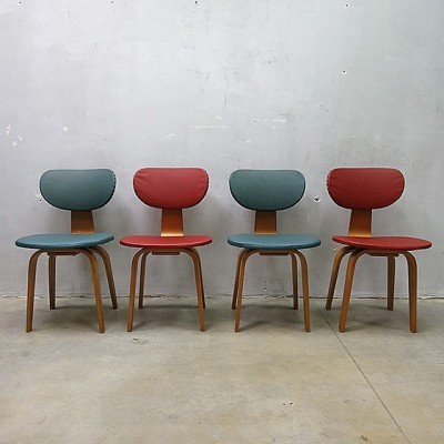 Set of 4 dinner chairs by Cees Braakman for Pastoe, 1950s