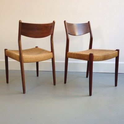 5 dinner chairs from the fifties by unknown designer for Fristho