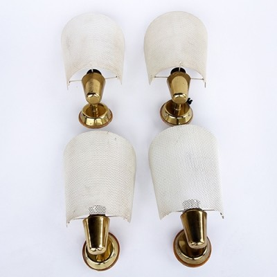 4 x BAG Turgi wall lamp, 1950s