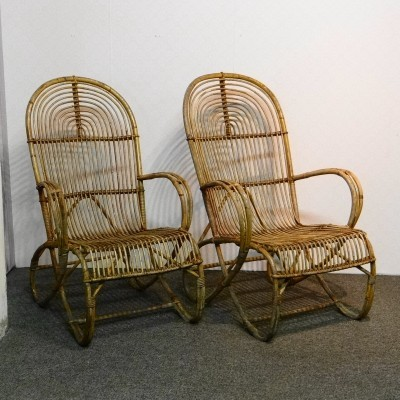 Pair of Rohé Noordwolde lounge chairs, 1950s