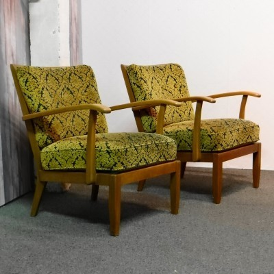 Pair of Eugen Schmidt lounge chairs, 1950s