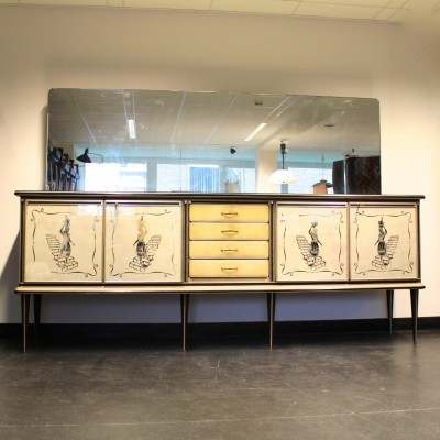XL Harrods Credenza sideboard by Umberto Mascagni for Mascagni, 1950s