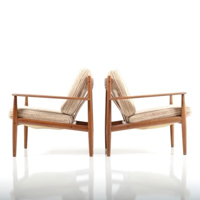 Pair of model 118 lounge chairs by Grete Jalk for France & Son, 1960s
