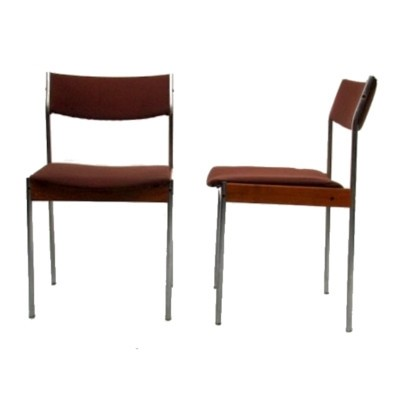 4 dinner chairs from the fifties by unknown designer for Thereca