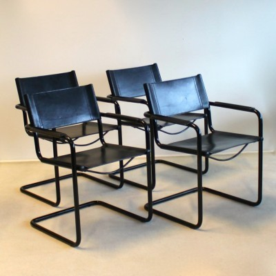 Set of 4 MG5 dining chairs by Centra Studi for Matteo Grassi, 1960s