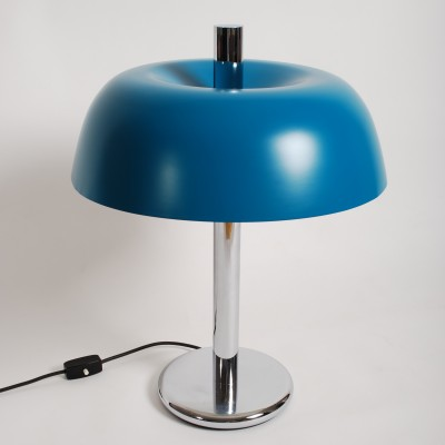 Blue Hillebrand desk lamp, 1960s