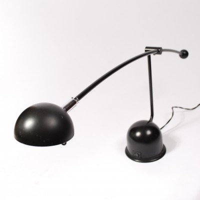 Black Desk lamp manufactured by Massive, Belgium in 80's