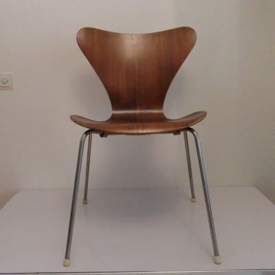 3 x model 3107 dinner chair by Arne Jacobsen for Fritz Hansen, 1950s