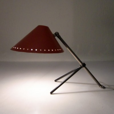 2 Pinokkio desk lamps from the fifties by H. Busquet for Hala Zeist