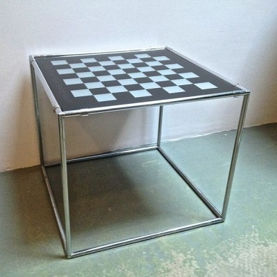 Abstracta Chessboard side table from the sixties by Poul Cadovius for unknown producer