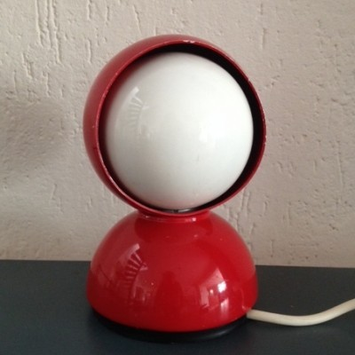 Eclisse Red Desk Lamp by Vico Magistretti for Artemide