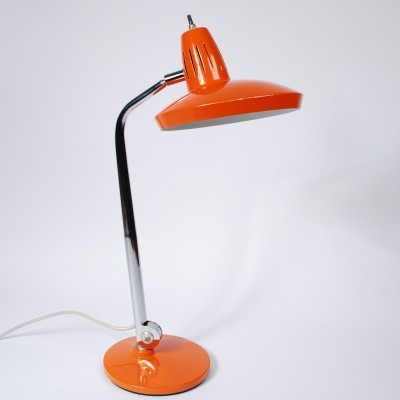 Orange 'Fazo' desk lamp by Fase, 1950s
