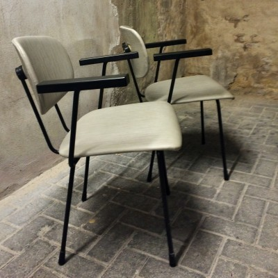 2 x NO. 216 dinner chair by Wim Rietveld for Gispen, 1950s
